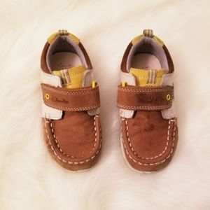 Toddler Clarks boat style shoes